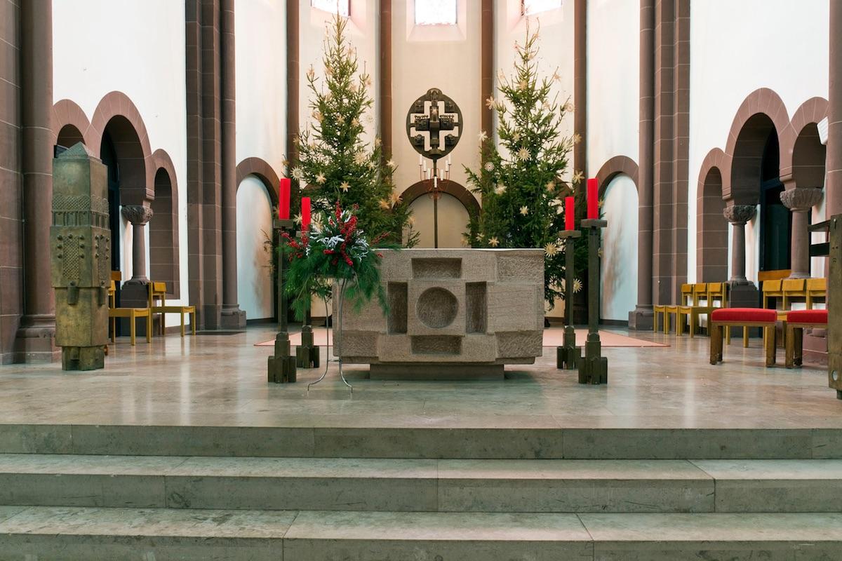 Gong in der Kirche